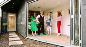 Your Home Made Perfect TV installs Herschel infrared heating for garden room