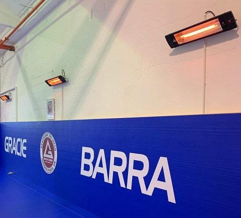 Vechtsportschool verwarmen met Herschel infrarood