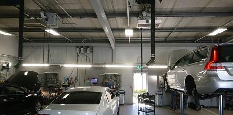 Herschel verwarming auto werkplaatsruimte