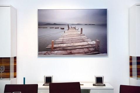 kantoorruimte verwarmd door decoratief Herschel schilderijpaneel