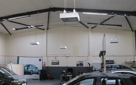 Herschel IRP4 biedt de ideale garage-werkplaatsverwarming