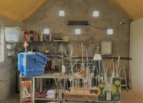 Herschel Aspect XL3 verwarmt een koude garagewerkplaats