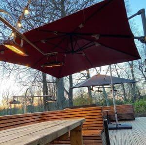 Buitenverwarmingsoplossing vereist voor patio van studentenbar