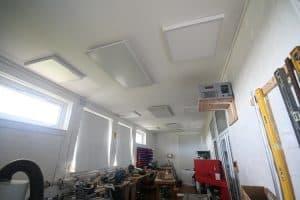 Installatie van kachels in een gerenoveerd gebouw